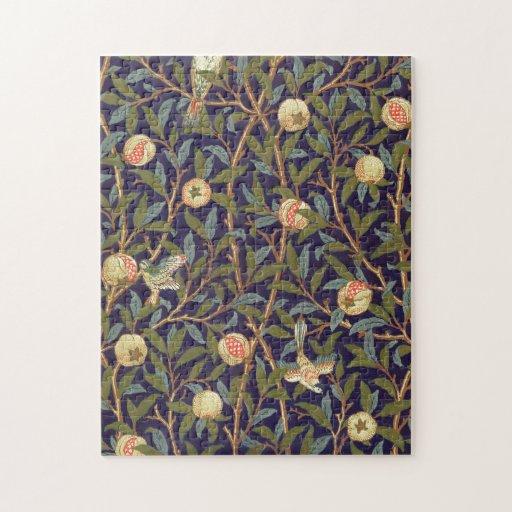 William Morris Bird And Pomegranate Jigsaw Puzzle