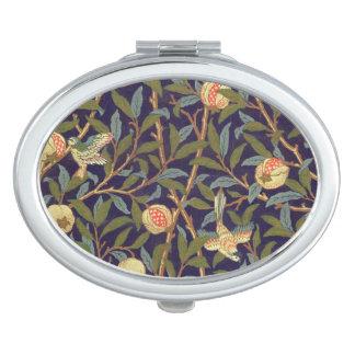 William Morris Bird And Pomegranate Vintage Art Compact Mirror