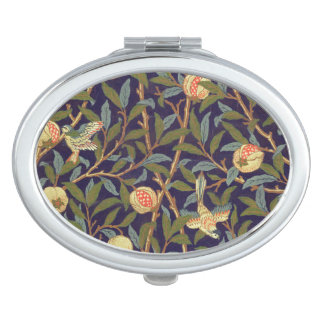 William Morris Bird And Pomegranate Vintage Art Travel Mirrors