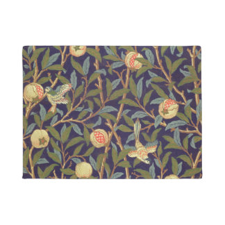 William Morris Bird And Pomegranate Vintage Floral Doormat
