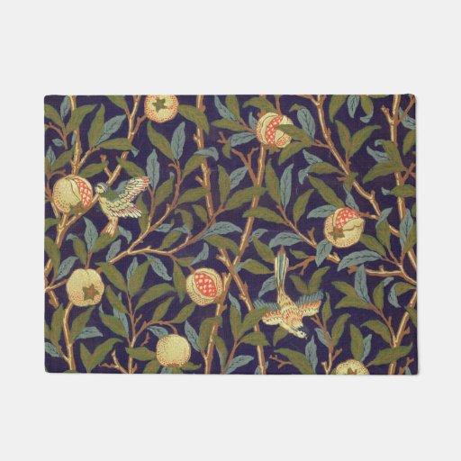 William Morris Bird And Pomegranate Vintage Floral Doormat