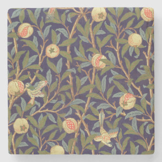 William Morris Bird And Pomegranate Vintage Floral Stone Coaster