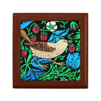 William Morris Bird & Flower Tile, Blue and Brown Gift Box
