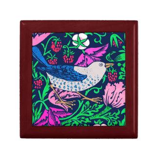William Morris Bird & Flower Tile, Navy & Fuchsia Gift Box