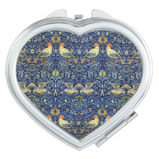 William Morris Bird Pattern Compact Mirror