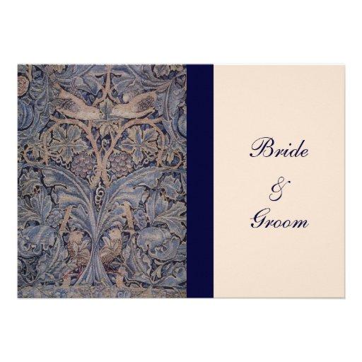 William Morris Bird Pattern Wedding Invitations