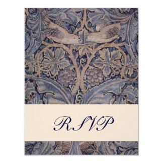 William Morris Bird Pattern Wedding Reply Cards 11 Cm X 14 Cm Invitation Card