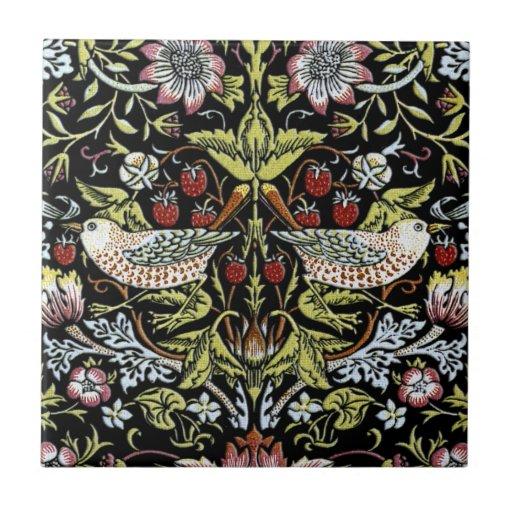 William Morris birds and flowers 2 Tile
