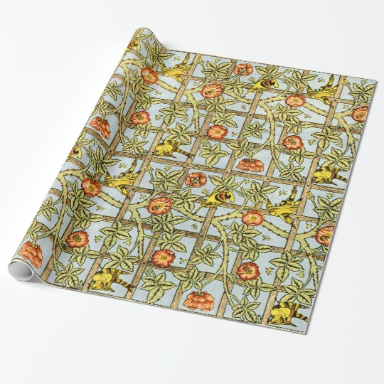 William Morris birds and flowers vintage pattern Wrapping