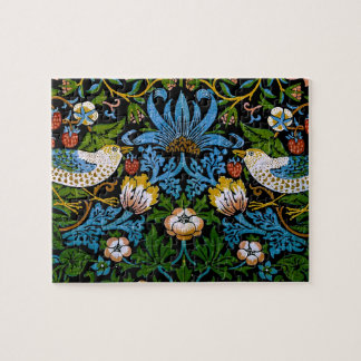 William Morris Birds Flowers Strawberries Fine Jigsaw Puzzle