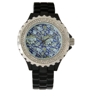 William Morris Blue Floral Pattern Watch