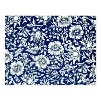 William Morris - Blue Mallow Postcard