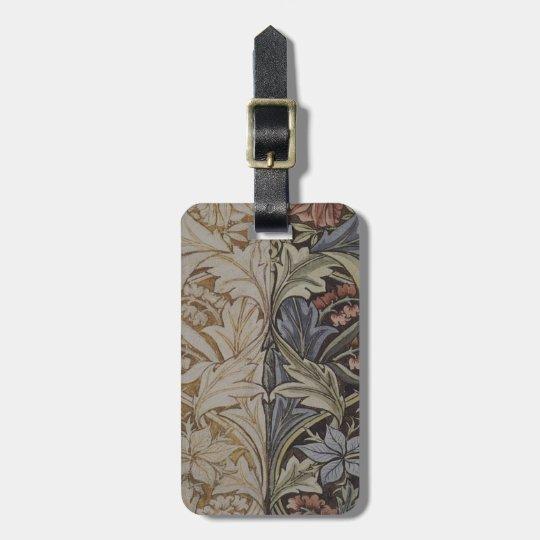 William Morris Bluebell Fabric Botanical Print Luggage Tag