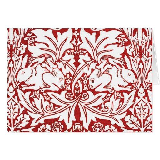 William Morris - Brer Rabbit Greeting Card