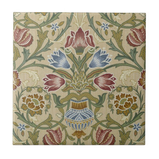 William Morris Brocade Floral Pattern Tile