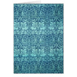 William Morris Brother Rabbit Pattern in Blue Note Card