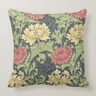 William Morris Chrysanthemum Vintage Floral Art Cushion