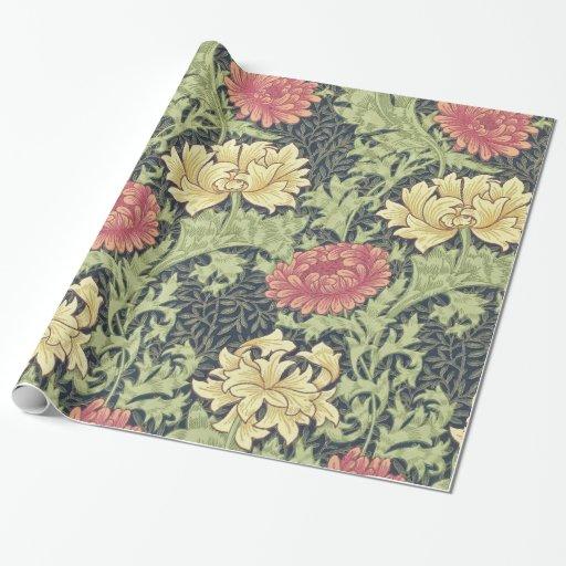 William Morris Chrysanthemum Vintage Floral Art Wrapping Paper