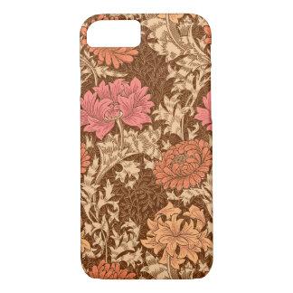 William Morris Chrysanthemums, Brown and Rust iPhone 8/7 Case