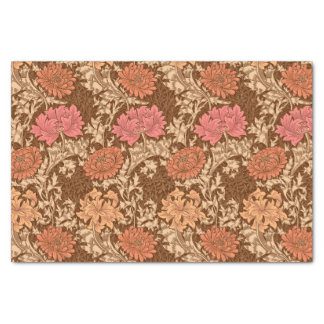 William Morris Chrysanthemums, Brown and Rust Tissue Paper
