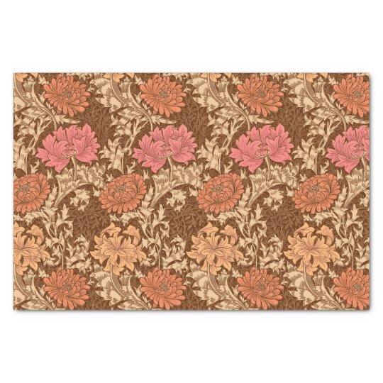 William Morris Chrysanthemums, Brown and Rust Tissue Paper
