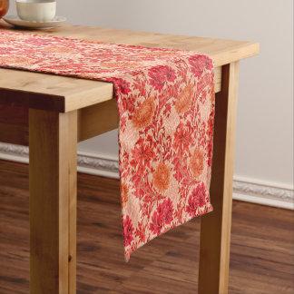William Morris Chrysanthemums, Coral Orange Short Table Runner