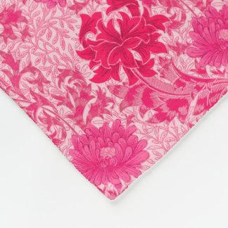 William Morris Chrysanthemums, Fuchsia Pink Fleece Blanket