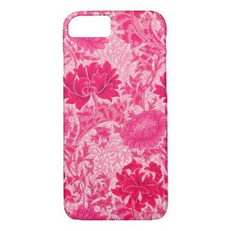 William Morris Chrysanthemums, Fuchsia Pink iPhone 8/7 Case