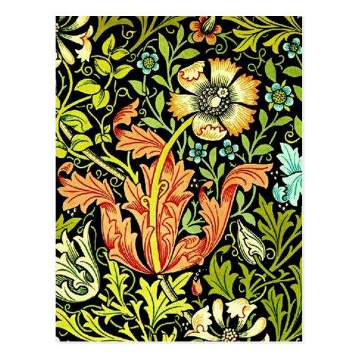 """William Morris """"Compton"""" Postcard"""