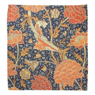 William Morris Cray Floral Art Nouveau Pattern Bandana