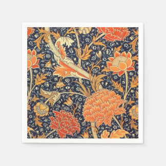 William Morris Cray Floral Art Nouveau Pattern Disposable Napkin