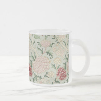 William Morris Cray Floral Pre-Raphaelite Vintage Frosted Glass Mug