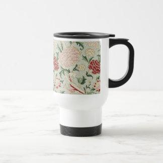 William Morris Cray Floral Pre-Raphaelite Vintage Stainless Steel Travel Mug