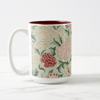 William Morris Cray Floral Pre-Raphaelite Vintage Two-Tone Mug