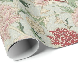 William Morris Cray Floral Pre-Raphaelite Vintage Wrapping Paper