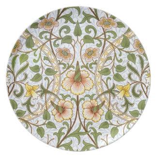 William Morris Daffodil Chintz Pattern Plate