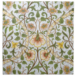 William Morris Daffodil Floral Pattern Napkin Set