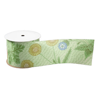 William Morris Daisy Pattern Satin Ribbon