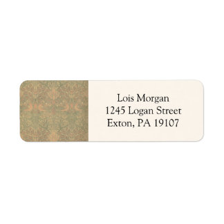 William Morris Dove and Rose Pattern Return Address Label