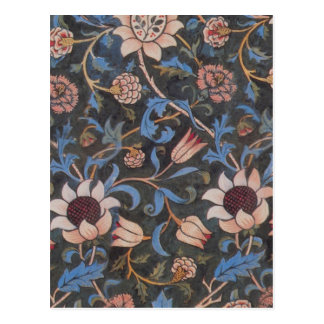 William Morris Evenlode Textile Pattern Postcard