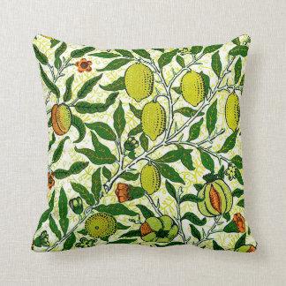 William Morris Exotic Fruit, Lemon Yellow Throw Cushion