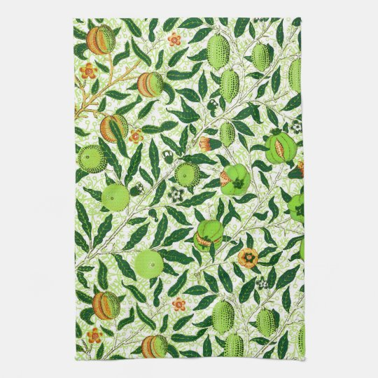 William Morris Exotic Fruit, Lime Green Hand Towel