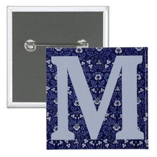 William Morris Eyebright Design 15 Cm Square Badge