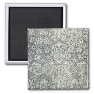 William Morris Fabric Design Greeting Card Square Magnet
