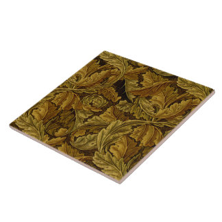 William Morris Fine Floral Wallpaper Pattern Large Square Tile