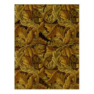 William Morris Fine Floral Wallpaper Pattern Postcard