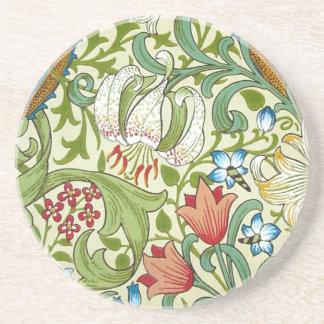 William Morris Fine Garden Lily Wallpaper Coasters