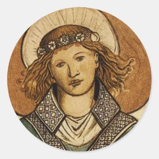 William Morris Fine Vintage Angel Classic Round Sticker