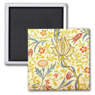William Morris Flora Floral Wallpaper Pattern Magnet