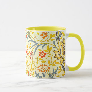 William Morris Flora Floral Wallpaper Pattern Mug